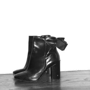 Kate Spade Leather Bow Booties